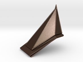 Red Pyramid Thing in Matte Bronze Steel