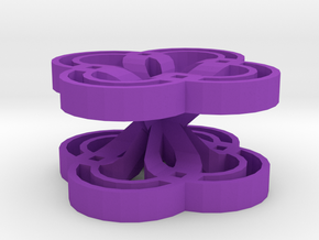 Volume pattern in Purple Processed Versatile Plastic