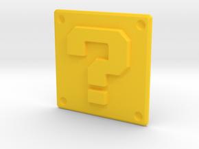 Question mark panel in Yellow Processed Versatile Plastic