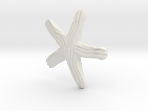 Groovy Starfish Earring in White Natural Versatile Plastic