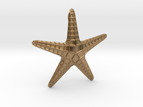 Starfish Pendant in Natural Brass