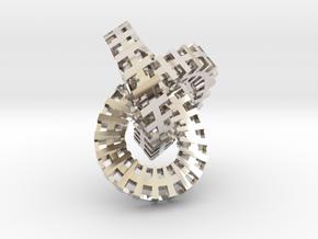 Escher knot medium in Platinum
