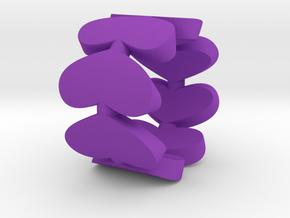 Hearts Ring in Purple Processed Versatile Plastic