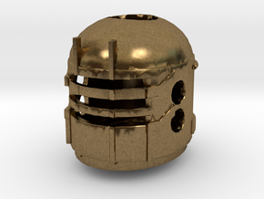 Isaac Clarke's Engineering Helmet from Dead Space  in Natural Bronze