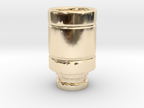 Magma styled drip tip in 14K Yellow Gold