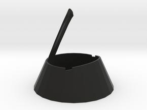 zz-Cone New For Box  Thin 3.5in in Black Natural Versatile Plastic