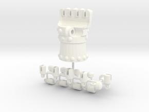 Iron Fist in White Processed Versatile Plastic
