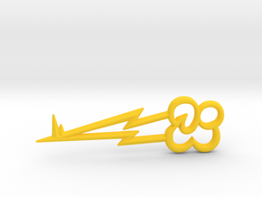 "Rainbow Dash's Key of Loyalty (≈75mm/3"" long) in Yellow Processed Versatile Plastic"