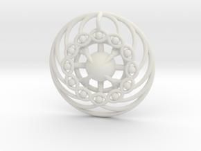 Nexus Eye Mandala in White Natural Versatile Plastic