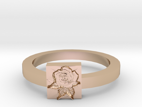 Rose Ring in 14k Rose Gold