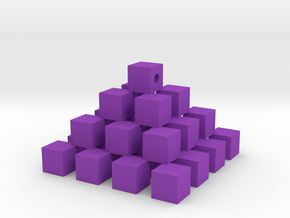 Cube piramid in Purple Strong & Flexible Polished