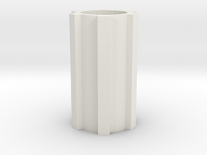 Spline shaft in White Natural Versatile Plastic