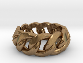Chained Ring of Honor in Natural Brass