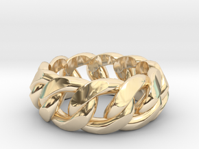 Chained Ring of Honor in 14K Yellow Gold