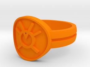 Orange Avarice Double Banded (Sz 5-15) in Orange Strong & Flexible Polished
