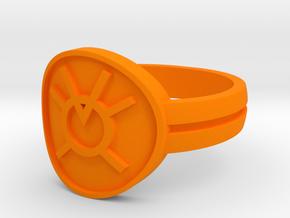 Orange Avarice Double Banded Sz 15 in Orange Processed Versatile Plastic