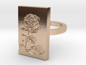 Rose Ring 3 in 14k Rose Gold