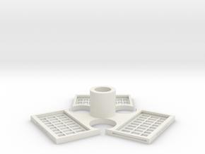 TriMagnetBase V2.0 in White Natural Versatile Plastic