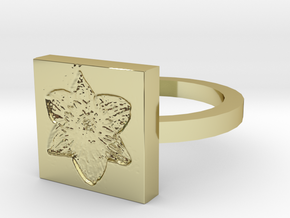 Daffodil Ring in 18k Gold