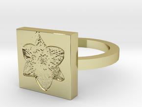 Daffodil Ring in 18k Gold