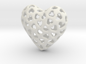 Small hearts, Big love (from $15) in White Natural Versatile Plastic: Medium