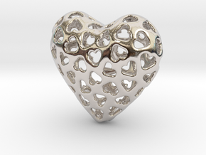 Small hearts, Big love (from $15) in Platinum: Medium