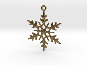 Little Romantic Snowflake Pendant in Natural Bronze