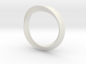 Heavy Bangle in White Natural Versatile Plastic