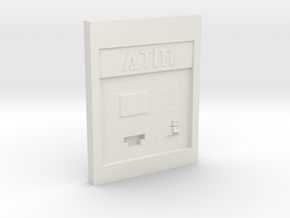 "Contemporary ATM for 4"" Figures in White Natural Versatile Plastic"