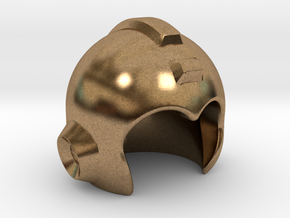 Mega Helmet in Natural Brass