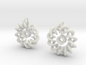 Ear Ring Pendant3 in White Natural Versatile Plastic