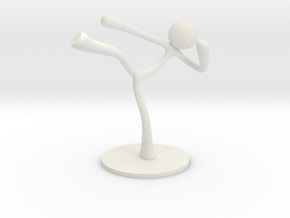 MTI Stickman-poses02 in White Strong & Flexible