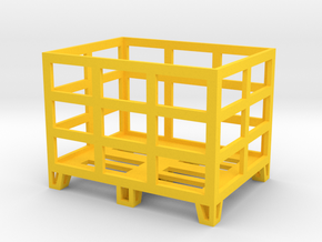 Pallet Crate 1/32 in Yellow Processed Versatile Plastic
