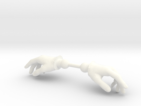 Warrior Hands Relaxed in White Processed Versatile Plastic