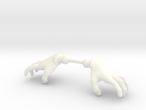 Warrior Hands Claw in White Processed Versatile Plastic