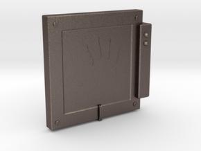 """Handscanner for 6-7"""" figures in Polished Bronzed Silver Steel"""