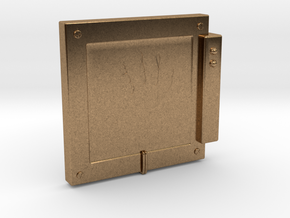 """Handscanner for 4"""" figures (3 3/4"""" or 1:18 scale) in Natural Brass"""