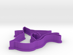 Espeon Cookie Cutter in Purple Processed Versatile Plastic