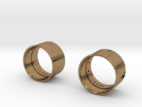 10x8 Medium Offset Modular Rim in Natural Brass