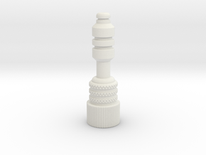 Scope Antenna in White Natural Versatile Plastic