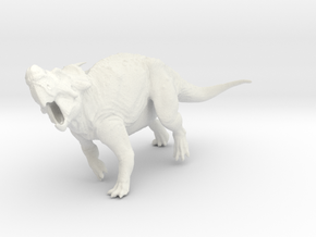 Evading Pachyrhinosaurus canadensis - 1/72 in White Strong & Flexible