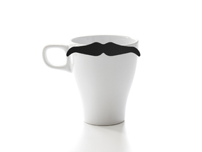 Mug & glass accessories Mustache 6 in Black Strong & Flexible