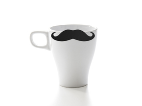 Mug & glass accessories Mustache 5 in Black Strong & Flexible