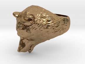 Bear ring in Natural Brass: 9 / 59