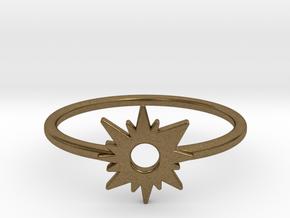 Sun Midi Ring in Natural Bronze