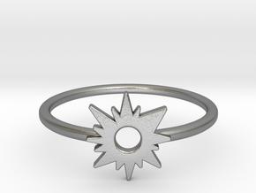 Sun Midi Ring in Natural Silver