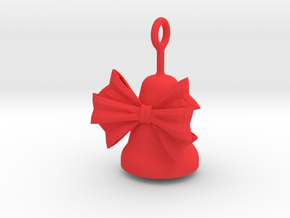Christmas Bell in Red Processed Versatile Plastic