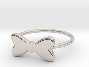 Midi Bow Ring the second by titbit in Platinum