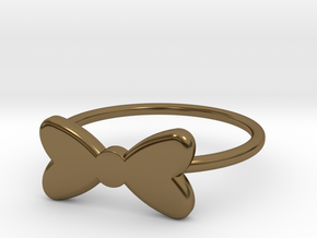 Midi Bow Ring the second by titbit in Polished Bronze