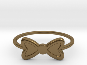 Knuckle Bow Ring, 15mm diameter by CURIO in Polished Bronze